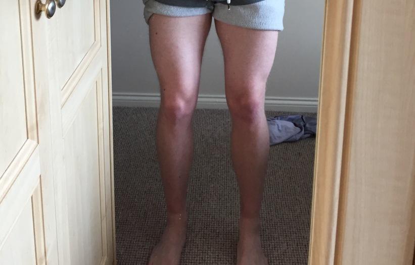 Chicken legs & tan lines